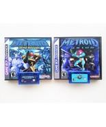 Metroid Fusion & Zero Mission w/ Custom Case Bundle (Gameboy Advance - GBA) - $44.99