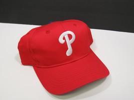 Vtg Philadelphia Phillies MLB Snapback Hat Red White P - $19.80