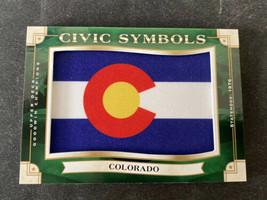 2019 Upper Deck Goodwin Champions Civic Symbols States Flag Colorado USF-38 - $14.95