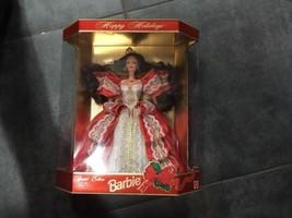 Happy Holidays Barbie 1997 Special Edition Mattel 18832 Gold NIB - $19.34
