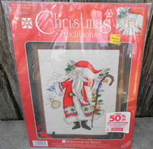 Designs Christmas Traditions Counted Cross Stitch Father Christmas Kit 1... - $20.00