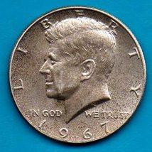 1967 Kennedy Halfdollar Circulated Very Good or Better - Silver - $8.00