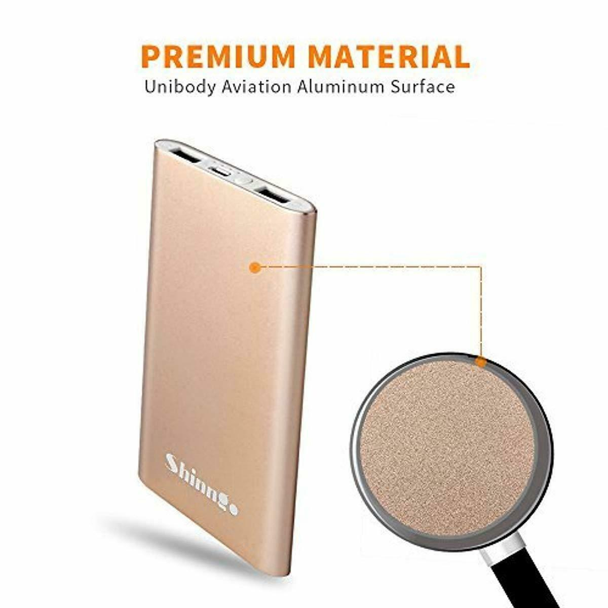 Shinngo Portable Charger 4000mAh Battery Ultra Slim Power Bank Aviation Aluminum