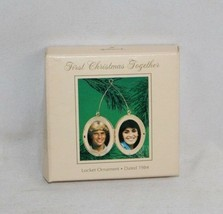 Hallmark Keepsake Ornament 1984 - First Christmas Together - Locket - QX... - $10.09