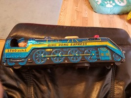 Vintage Tin Toy Train / Ding Dong Express/ 60's/ Railroad / Collectible/... - $23.95