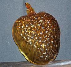 Amber Glass Grape Cluster Shape Large Centerpiece Bowl AA19-CD0045 Vintage image 6