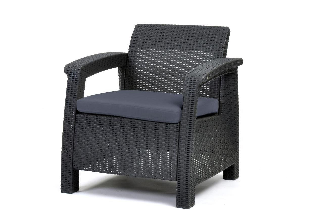 3pcs Rattan Garden Balcony Set Armchairs Coffee Table Patio Furniture Brown image 5
