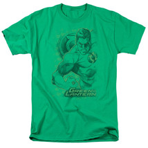 DC Comics Green Lantern Pencil Sketch Energy Adult T-Shirt - Size Medium - Green - $20.36