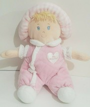 """First Impressions My First Doll Plush Cloth Soft Baby Dolly Pink Blonde 10"""" - $14.54"""