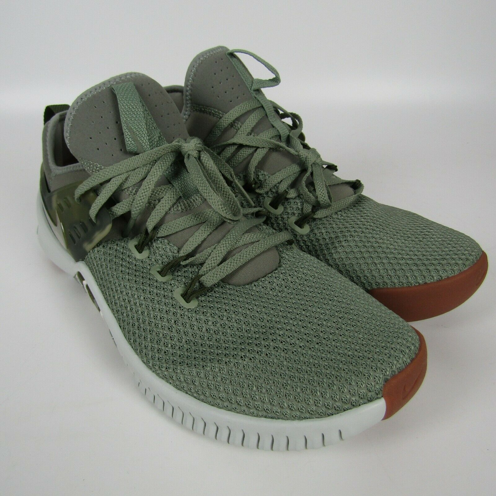Mens Nike Free Metcon Running Shoes Size 11.5 Green Tan Camo AH8141 002 Trainer image 2
