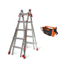 Little Giant Ladder Systems 22 Ft Aluminum Multi Position Ladder w/ Tool... - $243.09