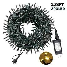 Christmas String Lights 108FT 300LEDS Indoor Outdoor Tree Lights Waterpr... - $24.30
