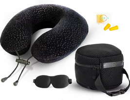 Memory Foam Travel Pillow for Airplanes - Best Airplane Neck Pillow - $20.00