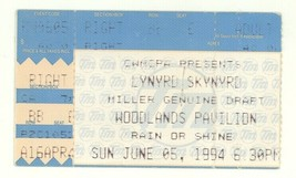 Lynyrd Skynyrd Ted Nugent Ian Moore 6/5/94 Houston TX The Woodlands Tick... - $6.92