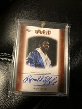 RON LYLE 2010 FLEER CERTIFIED HAND SIGNED AUTOGRAPHED MUHAMMAD ALI CARD ... - $26.72