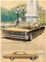 Vintage 1963 Magazine Ad Pontiac If You Don't Want To Be Looked At Don't Go Prix - $5.93