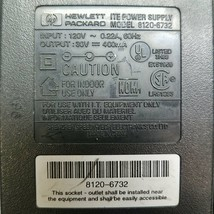 HP 8120-6732 ITE Power Supply Output 30V 400mA - $12.95