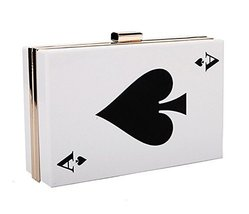 [Spades A] Creative Acrylic Clutch Handbags Fashion Evening Bags Party Bag