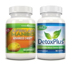 Pure African Mango 2400mg & Detox Cleanse Combo Pack 1 Month Supply - $38.99