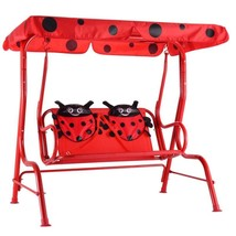 Garden Happy Kids Swing Chair Ladybug Patio Lawn Porch Lounge Safe Comfo... - $80.02