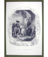 SCOTLAND Highlander's Dog Family - SUPERB Quality Print Ornamental Border - $22.95