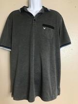 Callaway Men Size L Gray Golf Polo Short Sleeve Opti Dri Pocket - $12.18