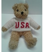 Baby Curly Attic Treasure USA sweater Teddy Bear Stuffed Animal - $15.00