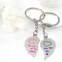 Keychain 1 Pair Lover Couple Love Heart - $5.99+
