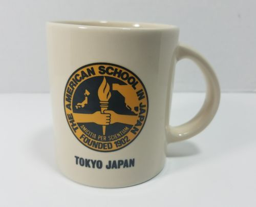 THE AMERICAN SCHOOL IN JAPAN COFFEE MUG TEA CUP TOKYO FOUNDED 1902