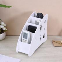 White Wooden Desk Shelf Remote Control Holder Phone Keys Candy Pen Organizer 1pc - $14.82