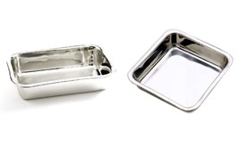 "Norpro Combo: 8.5"" Loaf Pan and 7.5"" Square Cake Pan, Stainless Steel - €19,45 EUR"