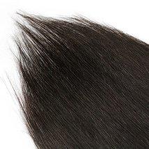Friskylov 18 Inch Black Hair Extensions Clip in Human Hair 120g Brazilian Virgin image 4