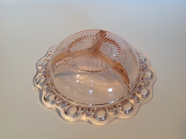 Relish 3 Part Hocking Depression Glass Pink Old Colony Lace Edge 1935 Vintage - $47.52