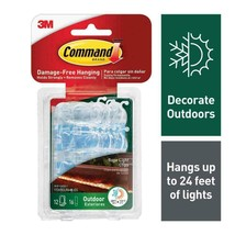 Command Outdoor Rope Light Clips with Foam Strips, Clear, 12-Clips 1, White - $20.30