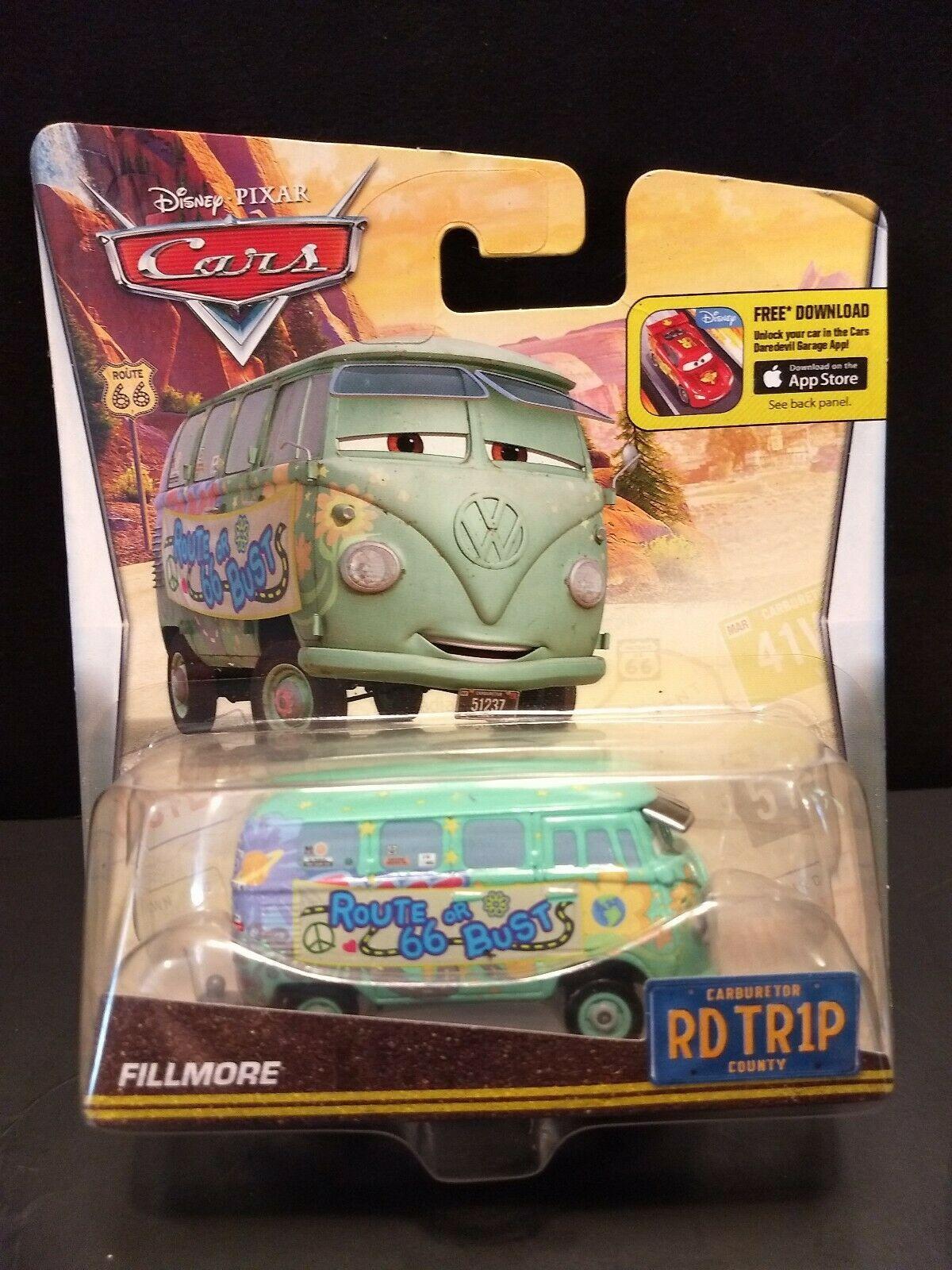Sealed 2015 Mattel Pixar Disney Cars Fillmore Road Trip toy van Route 66 or Bust image 8