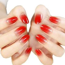 Stylish Gradient Nail Art French Style Pre-designed False Nails, China red