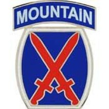 US Army 10th Mountain Division Pin - $4.94