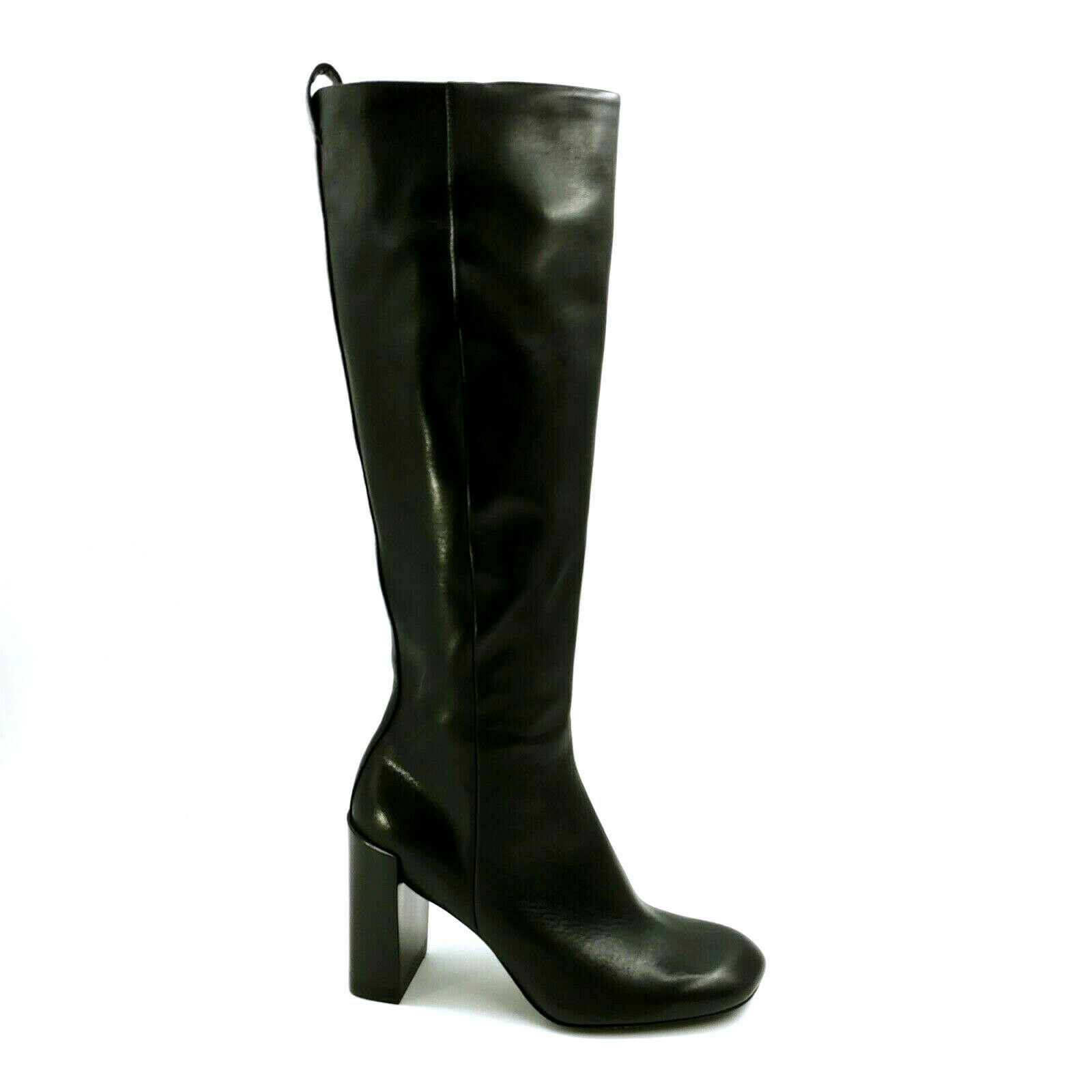 Primary image for Rag & Bone Womens Leather Knee High Riding Boots Stacked Heel Black EUR 36.5 New