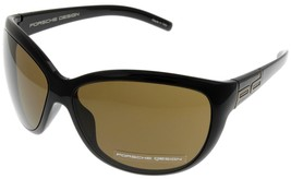 Porsche Design Sunglasses Women Brown P8524 A Designer Oval - $127.71