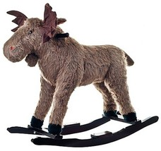 Happy Trails Ride-On Rocking Max Moose in Brown - $109.84
