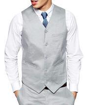 Mens Formal Wear Slim Fit Light Grey 3 Piece Tuxedo Suit image 3