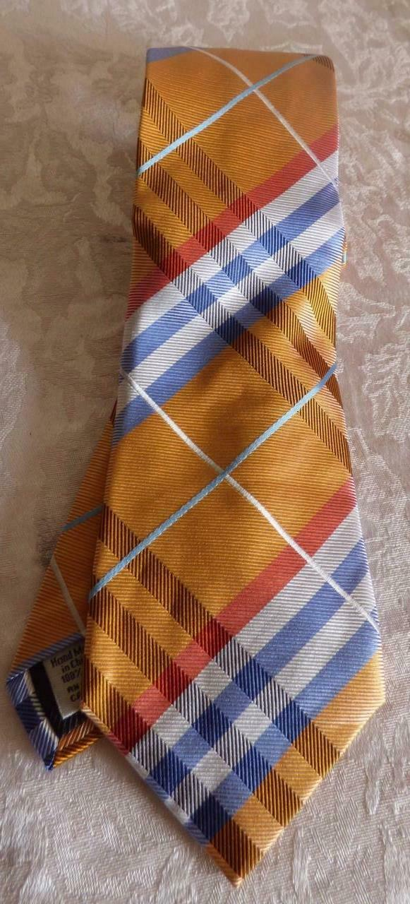 Primary image for Geffrey Beene Pierre Plaid Brights Silk Necktie