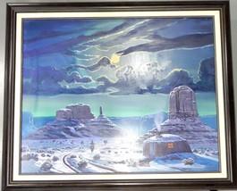 "Teddy Draper Navajo Original ""WINTER SKIES"" Oil Painting Award Winning A... - $2,075.75"