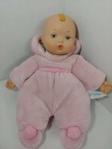 Madame Alexander plush pink terrycloth My first baby doll vinyl head han... - $8.90