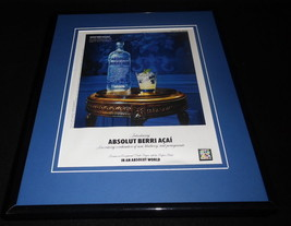 2010 Absolut Berri Acai Framed 11x14 ORIGINAL Vintage Advertisement - $32.36