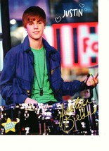 Justin Bieber teen magazine pinup clipping playing drums Tiger Beat teen... - $3.50
