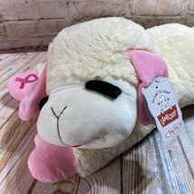 "NEW Lamb Chop LARGE Stuffed Dog Toy Pink Ribbon Animal Plush Jumbo 24"" 2020 - £23.92 GBP"