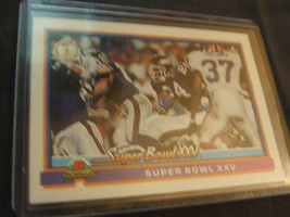 1991 Bowman #557 Super Bowl XXV New York Giants vs Buffalo Bills 'Wide Right' - $3.12