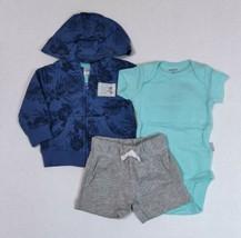Carter's 3 Piece Summer Set for Boys Hawaiian Flowers Newborn 3 6 or 9 Months  - $15.00
