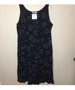 Fresh Produce Blooming Flowers Midi Shift Dress Sleeveless Ruffle Hem Si... - $27.85